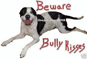 "Brand New Pitbull T-Shirt  ""Bully Kisses"""