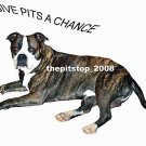 "Brand New Pitbull T-Shirt  ""Give Pits A Chance"""