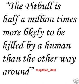 "Brand New Pitbull T-Shirt  ""The Pitbull is"""