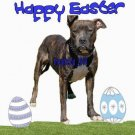 "Brand New Pitbull T-Shirt  ""Happy Easter"""
