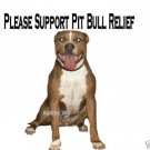 "Brand New Pitbull T-Shirt  ""Please Support Pit"""
