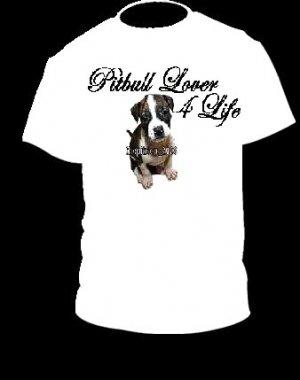 "Brand New Pitbull T-Shirt  ""Pitbull Lover 4 Life"""