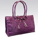 Purple Croc Handbag