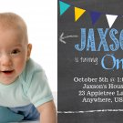 Chalkboard 1st Birthday Invitations / First Birthday Invitations / Printable Invite