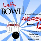 Bowling Birthday Invitation / Bowling Birthday Invite / Bowling Party / PRINTABLE FILE