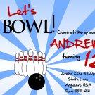 Bowling Birthday Invitation / Bowling Birthday Invite / Bowling Party / PRINTABLE FILE