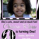 Animal Birthday Invitations, Zebra Printable Photo Card, Digital File