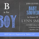 Baby Shower Invitations - Chalkboard Design - PRINTABLE Invitation - B is for Boy