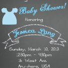 Baby Shower Invitation -Vintage Style Chalkboard Design -PRINTABLE Invitation