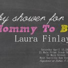 Baby Shower Invitations - Mommy to Bee -Vintage Style Chalkboard Design - PRINTABLE Invitation