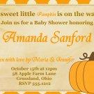 Baby Shower Invitation, Fall Autumn Little Pumpkin Baby Shower