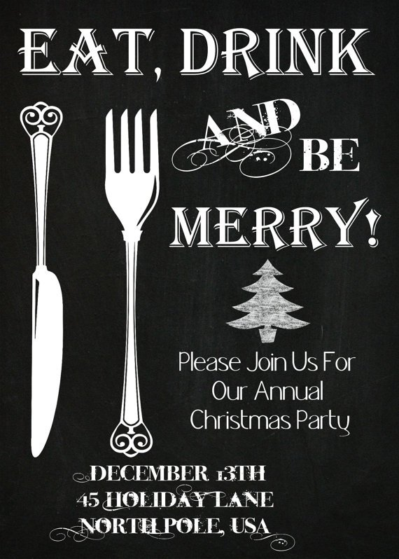 Christmas Dinner Party Invitation