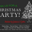 Christmas Dinner Party Invitation, Chalkboard Christmas Dinner Invitation