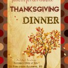 Thanksgiving Dinner Invitation, Thanksgiving Feast Autumn Invitation