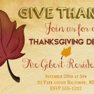 Thanksgiving Dinner Invitation Thanksgiving Feast Autumn Invitation