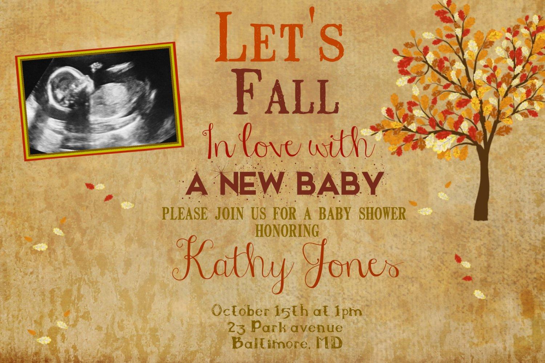 Autumn Baby Shower Invitation, Autumn Invitation