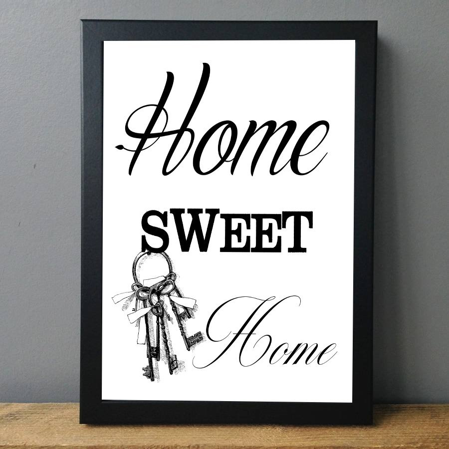 Home Sweet Home, Printable Quote, Typography Wall Art