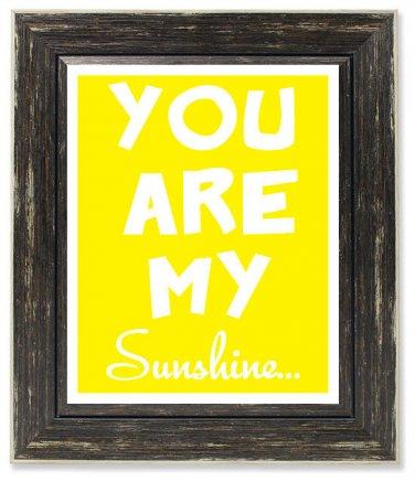 You Are My Sunshine, Printable Nursery Art, Kids Room Decor, Nursery Decor, Kids Wall Art