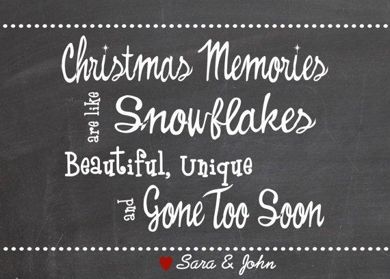 Custom Christmas Card, Christmas Chalkboard Style Card