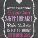 Pregnancy Announcement, Expecting a little valentine, Expecting a little sweetheart