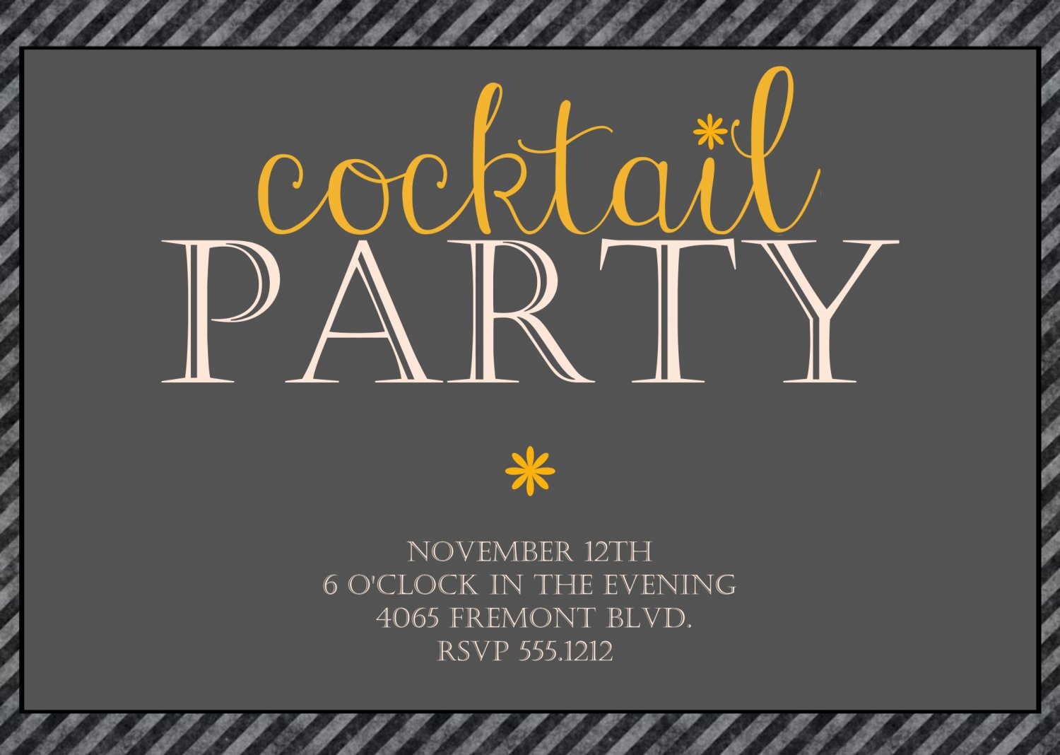 Cocktail Party Invitation, Cocktail Party, DIY Invite, Adult Party
