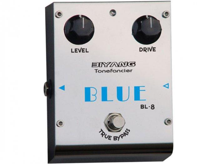 Free Shipping Biyang BL-8�Blue Overdrive Guitar Effect Pedal