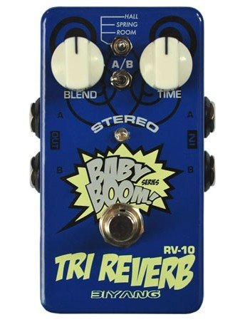 Free Shipping Biyang Babyboom RV-10�Stereo Reverb Guitar Effect Pedal