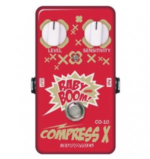 Free Shipping Biyang CO-10�Compressor Guitar Effect Pedal Baby Boom