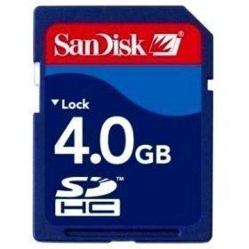 4.0GB Sandisk secure memory card