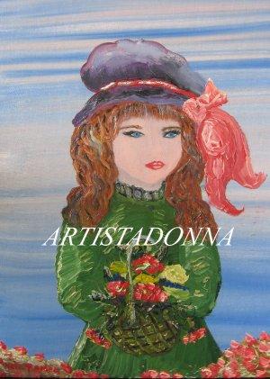 Mysterious Girl Painting Desktop Wallpaper