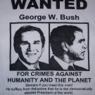 WANTED George W. Bush Adult Size Medium T-Shirt