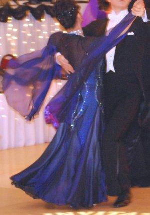 Black/Cobalt Balroom Dress