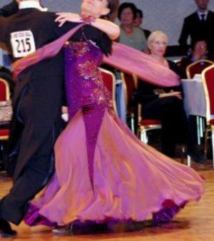 Bordeaux Ballroom Dress