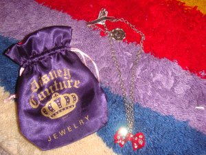 Disney minnie mouse ribbon necklace