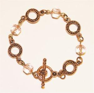 Copper & Glass Bracelet