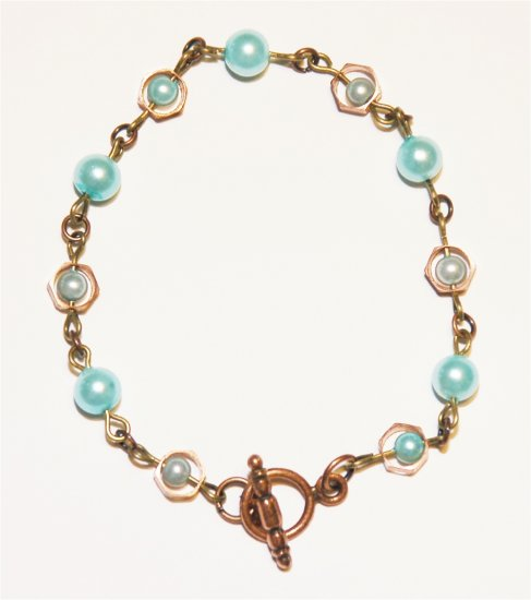 Copper & Pearl Bracelet