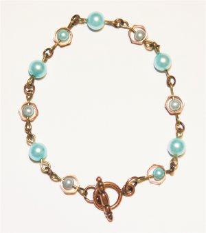 Copper & Pearl Bracelet