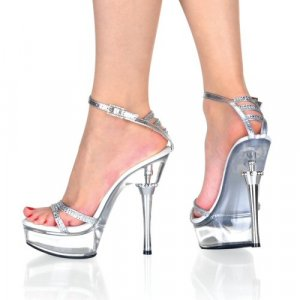 Women's Ankle Strap Shoes with Rhinestone Details