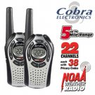 COBRA 2-WAY 5-MILE RANGE WEATHER RADIOS