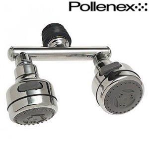 POLLENEX TWIN HEAD MASSAGING SHOWERHEAD