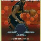 2002-03 Topps Finest GILBERT ARENAS #123 Game-Worn Shorts 522/999