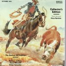 SOUTHWEST ART October Collector&#39;s Edition Cowboy Art Magazine Back Issue 1991