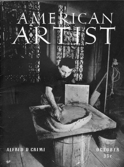 AMERICAN ARTIST Magazine August 1941 Watson-Guptil Publication Magazine Back Issue