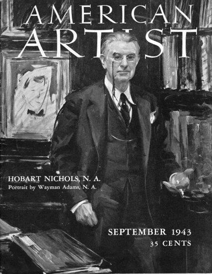 AMERICAN ARTIST Magazine September 1943 Watson-Guptil Publication Magazine Back Issue