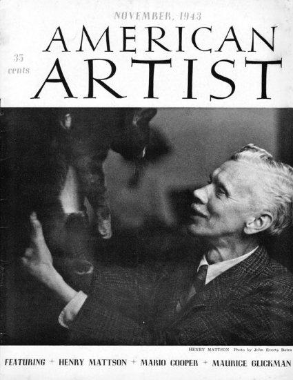 AMERICAN ARTIST Magazine November 1943 Watson-Guptil Publication Magazine Back Issue