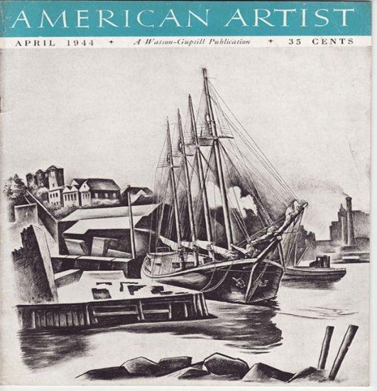 AMERICAN ARTIST Magazine April 1944 Watson-Guptil Publication Magazine Back Issue