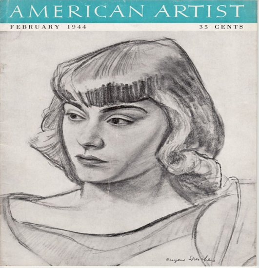 AMERICAN ARTIST Magazine February 1944 Watson-Guptil Publication Magazine Back Issue