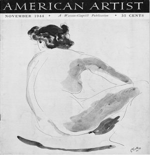 AMERICAN ARTIST Magazine November 1944 Watson-Guptil Publication Magazine Back Issue