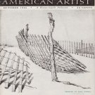 AMERICAN ARTIST Magazine October 1945 Watson-Guptil Publication Magazine Back Issue