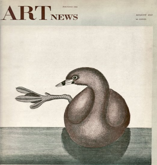 ARTnews Magazine August 1947 Art Illustrations Articles Magazine Back Issue
